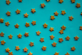 Blue background with stars. - 201292978