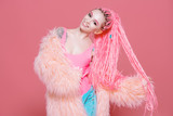 stylish girl with dreadlocks - 201297532