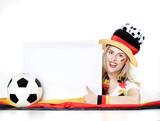 Girly soccer fan with message board - 201311194