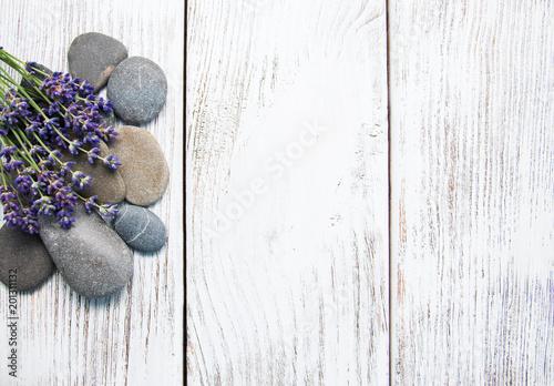 Lavender and massage stones - 201311132