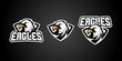 eagle sport gaming logo vector badges emblem