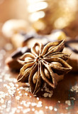 Star Anise on Vintage Table. Selective Focus - 201319760