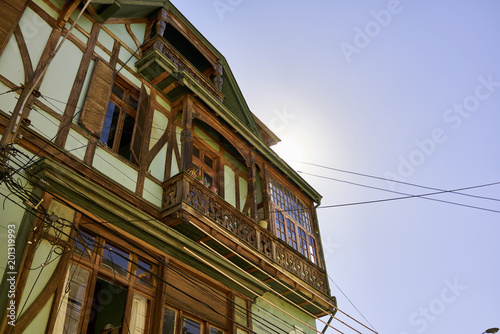 Timber House in Valparaiso, Chile