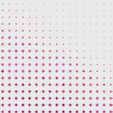 Pop art halftone shapes in pink with a light gray background in a fading gradient retro design