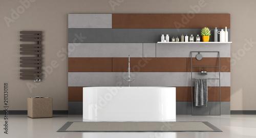 Nowoczesna łazienka z wanną