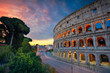 Quadro Colosseum. Image of famous Colosseum in Rome, Italy during beautiful sunrise.