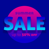 Summer sale offer up to 50% off