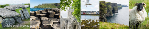 Landscapes of Ireland, banner with a series of photos