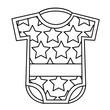 sweet clothes baby boy with stars fashion vector illustration outline