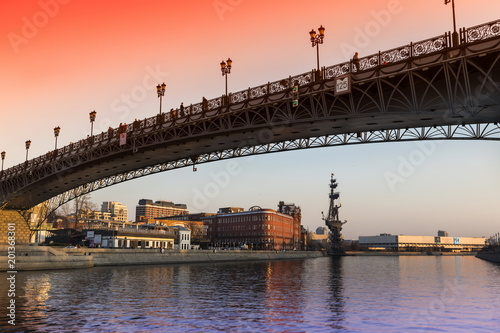 Fotobehang Moskou Bridge over Moscow-river, Moscow. Russia.
