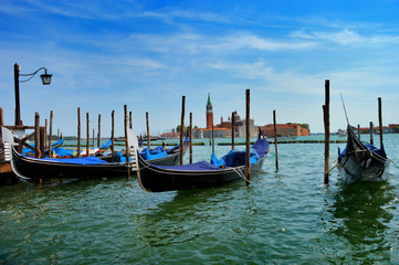 Boats in the city of Venice