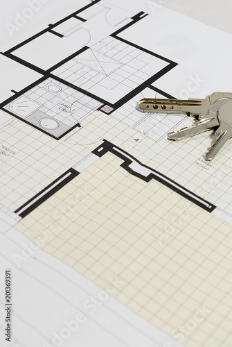 Architectural plan for building a house - 201369391