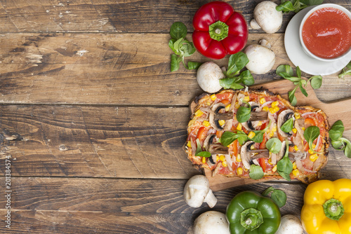 Pizza healthy vegetable handmade
