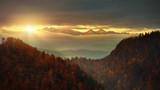 Panoramic view from Solkolica Peak to Tatra mountain.