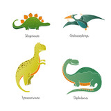 Hand drawn dinosaurs