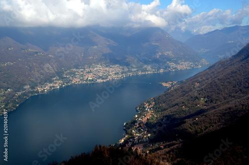 Blick von Brunate auf den Comer See - 201404397