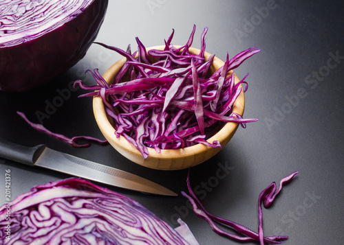 Foto Murales chopped red cabbage