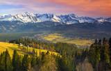 Polish mountains Tatry at sunset - 201422752