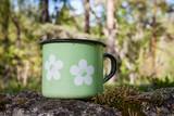 Enamel porcelain mug in summer nature - 201437522
