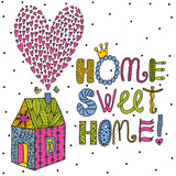 Sweet Home background. Vector postcard.