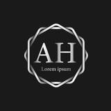 Initial Letter AH Logo Tempalate - 201445506