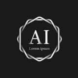 Initial Letter AI Logo Tempalate - 201445511
