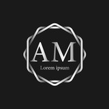 Initial Letter AM Logo Tempalate - 201445521