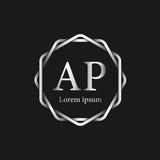 Initial Letter AP Logo Tempalate - 201445532