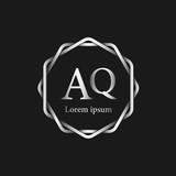Initial Letter AQ Logo Tempalate - 201445534