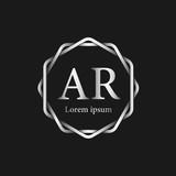 Initial Letter AR Logo Tempalate - 201445539