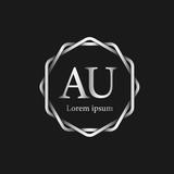 Initial Letter AU Logo Tempalate - 201445544