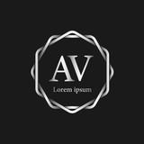 Initial Letter AV Logo Tempalate - 201445548