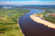 Big plain river, top view - 201446700