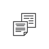 Notes paper outline icon. linear style sign for mobile concept and web design. Paper blank document simple line vector icon. Symbol, logo illustration. Pixel perfect vector graphics - 201447733