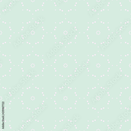 Spring Tender Colorful Seamless Pattern. Circles, Spots and Dots Endless Textures. Perfect for Pastel Background and Surface Design.