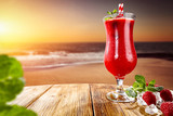summer drink on beach