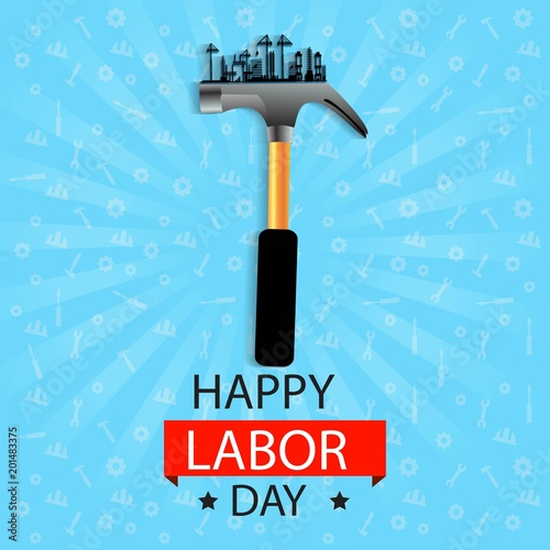creative abstract, banner or poster for May 1st or Labour Day with nice and beautiful design illustration.
