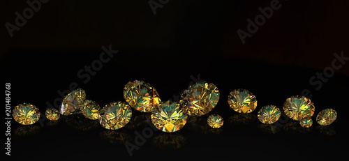 Bright gems on a black background - 201484768