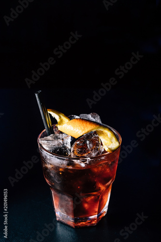 cocktail on a black background