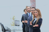 business team in the background of the office. - 201503749