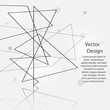 Vector abstract background with line and circles design.