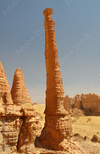 Landscape of the desert region of the Sahara in Ennedi surroundings in north Chad  - 201517536