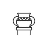 Antique vase in museum outline icon - 201518909