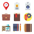 Set of 9 other flat icons