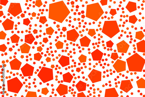 Abstract colored pentagon shape pattern. Vector, surface, graphic & illustration. - 201522564