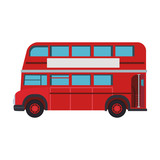 London bus isolated vector illustration graphic design