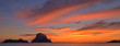 The sunset on the island of Es vedra, Ibiza