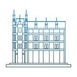 Europe antique building vector illustration graphic design - 201536772