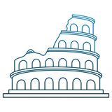 Rome coliseum monument vector illustration graphic design