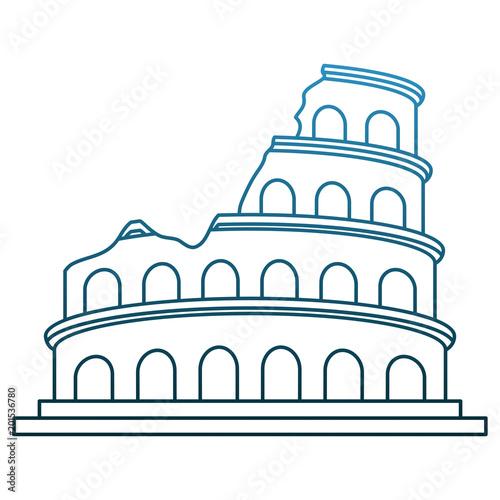 Rzym kolosseum pomnikowy wektorowy ilustracyjny graficzny projekt